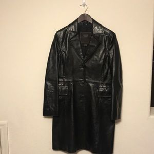 Coach women's leather trench coat. Size small